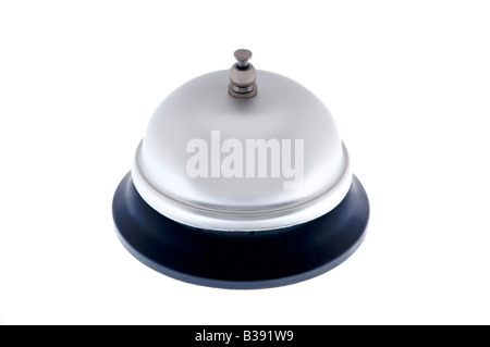 Service bell on white - Stock Photo