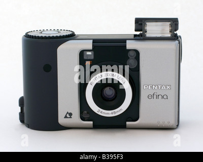 Used APS Advanced Photo Sistem pocket camera Pentax Efina ready to shoot cut out