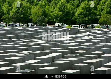 Deutschland, Berlin, Holocaust-Mahnmal, Germany Holocaust Memorial in Berlin - Stock Photo