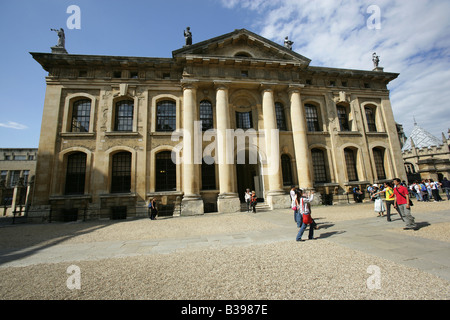 City of Oxford, England. Rear courtyard view of the Nicholas Hawksmoor designed Clarendon Building. - Stock Photo