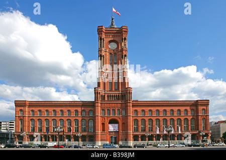 Deutschland, Berlin, das rote Rathaus, Germany, Berlin Red Town Hall - Stock Photo