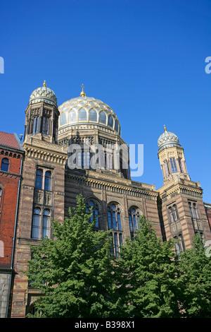 Deutschland, Berlin, Kuppel der neuen Synagoge, Dome of the new synagogue in Berlin, Germany - Stock Photo