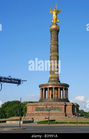 Deutschland, Berlin, Siegessaule, victory column in Berlin, Germany - Stock Photo