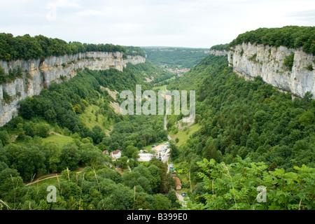 France, Jura, Cirque de Baume - Stock Photo