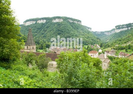France, Jura, Baume les Messieurs village - Stock Photo