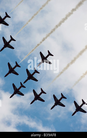 Royal Air Force Aerobatic Team, The Red Arrows - Stock Photo