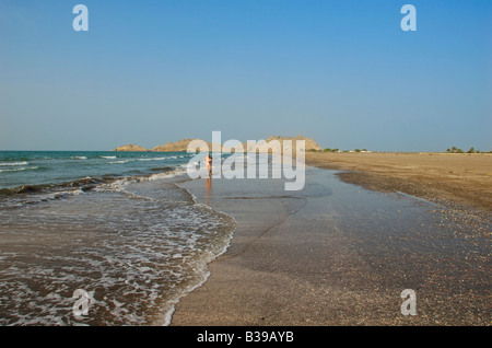 Sawadi Beach Al Batinah Region Sultanate of Oman - Stock Photo