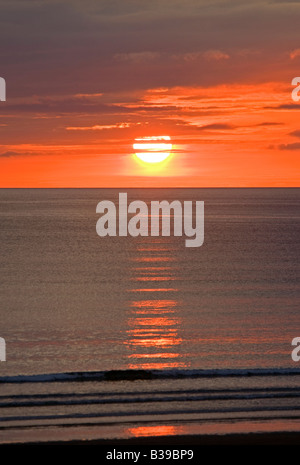 Golden Sunset over Dunnet Bay Caithness on the North Coast of Scotland