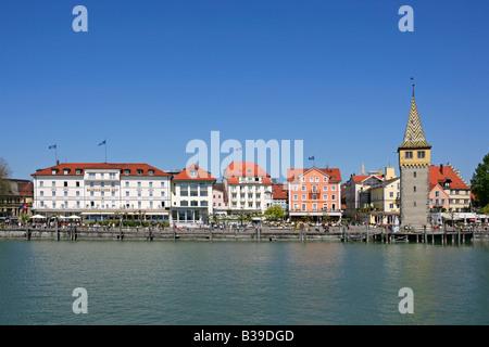 Deutschland, Bayern, Lindau am Bodensee, Germany, Bavaria, Lindau at Lake Constance Germany Bavaria - Stock Photo