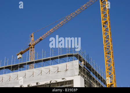 construction site, new building in Milan, Italy - Stock Photo