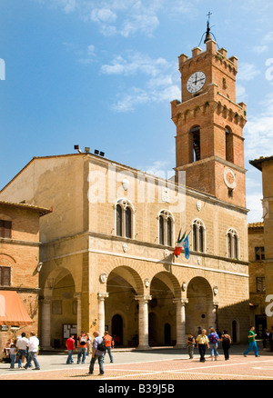 Palazzo Communale in Pienza, Tuscany, Italy - Stock Photo
