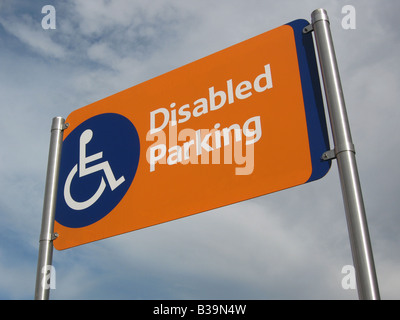 Disabled Parking Sign - 1 - Stock Photo