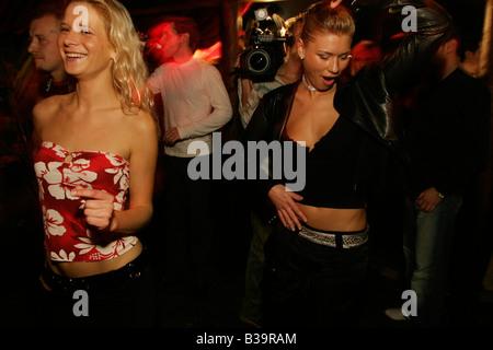 Polish girls at The Cross night club, Kings Cross, London. - Stock Photo