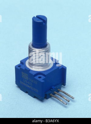 small rotary potentiometer - Stock Photo