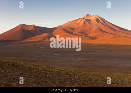 South America, Chile, Antofagasta Region, Atacama desert, Los Flamencos National Reserve, altiplano, Cerro Miniques - Stock Photo