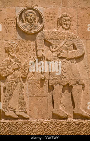 Turkey Eastern Turkey Van Lake Van Akdamar Island Akdamar Killsesi Armenian Church of the Holy Cross Reliefs of - Stock Photo