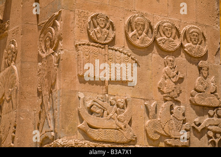 Turkey Eastern Turkey Van Lake Van Akdamar Island Akdamar Killsesi Armenian Church of the Holy Cross - Stock Photo