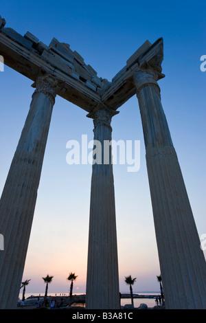 Roman Ruins of the Temple of Apollo, Side, Anatalya Province, Turkey - Stock Photo
