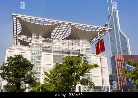 China, Shanghai, Renmin Park, Urban Planning Exhibition Hall - Stock Photo