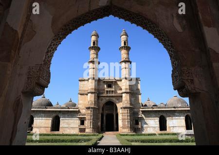 Main mosque, UNESCO World Heritage site, Champaner, Gujarat state, India - Stock Photo