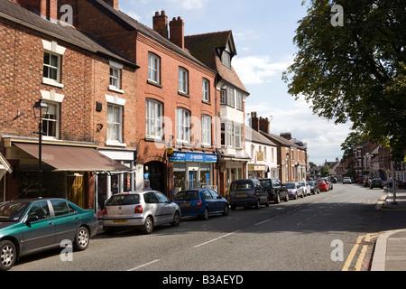 UK Cheshire Tarporley High Street - Stock Photo