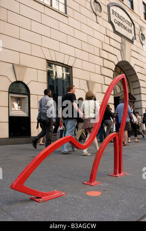 David Byrne Bicycle Rack in front of Bergdorf Goodman on FIfth Avenue in Manhattan. ©Stacy Walsh Rosenstock - Stock Photo