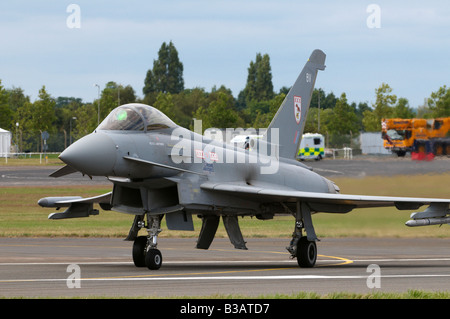 RAF Eurofighter Typhoon F2 Farnborough Air Show 2008 - Stock Photo