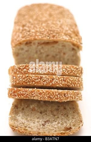 Sliced multigrain bread - Stock Photo