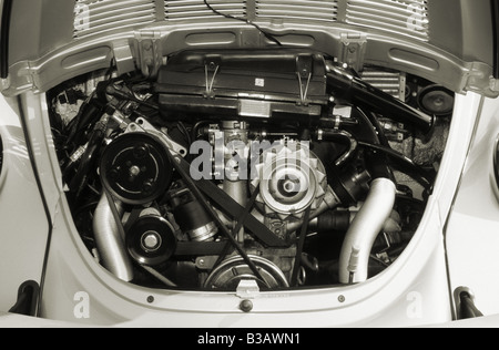 Volkswagen Beetle 1600 of 1997. 1584cc.  Air conditioning. - Stock Photo