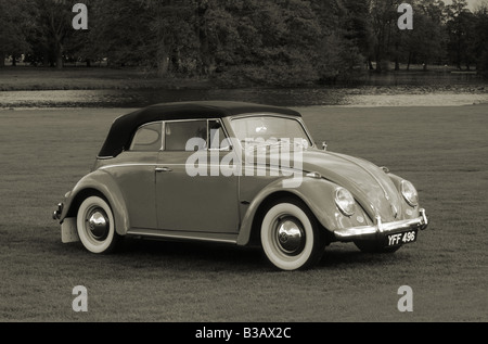 Volkswagen Beetle Cabriolet of 1961. - Stock Photo