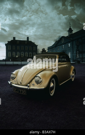 Volkswagen Beetle Cabriolet of 1956. - Stock Photo