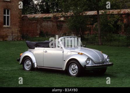 Volkswagen Beetle 1303 Cabriolet of 1979. American spec. - Stock Photo