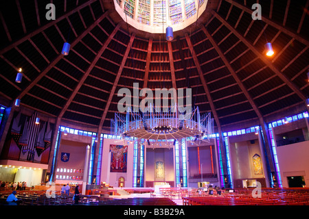 July 2008 - The interior of the Metropolitan Cathedral of Christ The King Liverpool England UK - Stock Photo