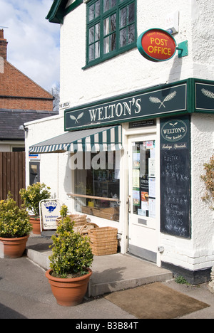 small village corner shop and post office in the uk - Stock Photo