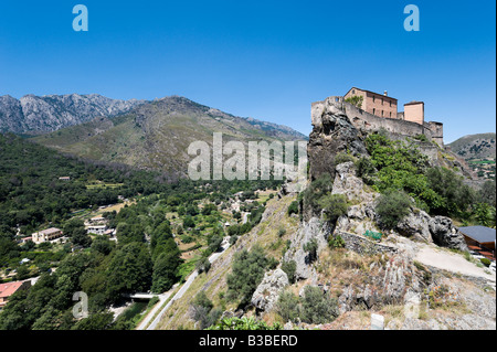 The citadelle in the haute ville (old town), Corte (former capital of independent Corsica), Central Corsica, France - Stock Photo