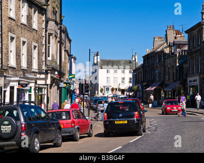 View of Market Place, Horse Market and Galgate in Barnard Castle County Durham England UK - Stock Photo