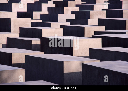 Germany, Berlin. The Memorial to the Murdered Jews of Europe, also known as the Holocaust Memorial, is a memorial - Stock Photo