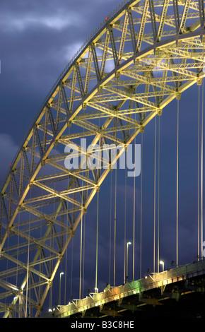 The Runcorn Road Bridge Runcorn Cheshire UK - Stock Photo