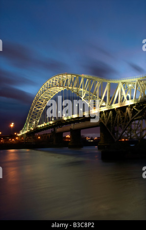 The Runcorn Road Bridge Runcorn Cheshire UK - Stock Photo