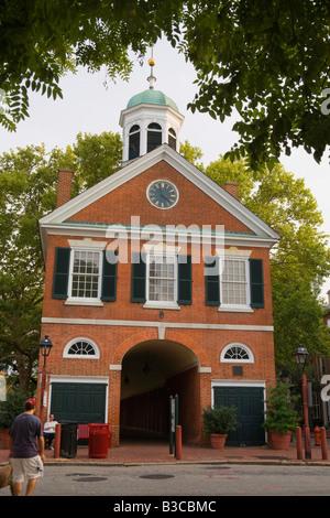The Old New Market Shambles Society Hill neighborhood Philadelphia Pennsylvania - Stock Photo