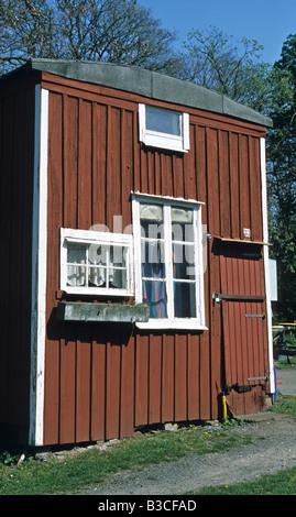 Fishermen's huts, Malmo, Sweden - Stock Photo