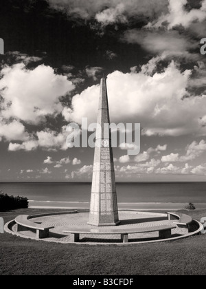 The 1st Infantry Division Memorial dominating the beach of Colleville sur Mer in Normandy, worldwide renowned as - Stock Photo