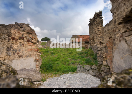 Ruins, Pompeii Italy - Stock Photo