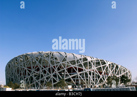 China, Beijing. National Stadium in the Olympic Park. - Stock Photo