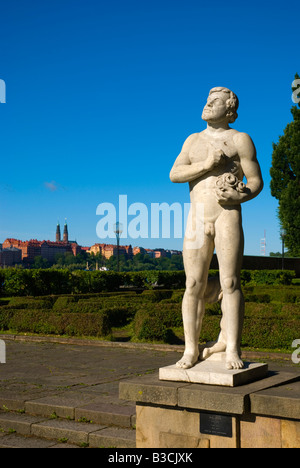 Statue outside Town Hall in Stockholm Sweden Europe - Stock Photo