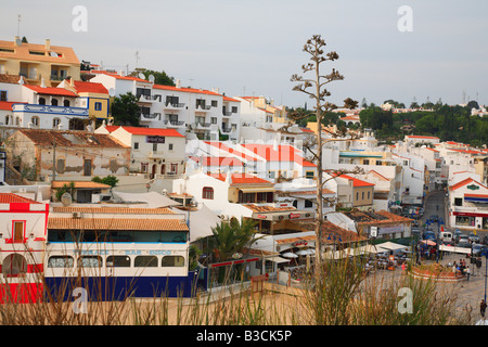 fishing village of Carvoeiro Algarve Portugal - Stock Photo