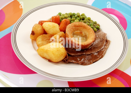Roast Beef Dinner - Stock Photo