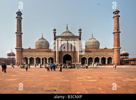 Jama Masjid Mosque old Delhi India - Stock Photo