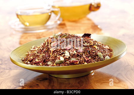 Rooibos tea with cardamom, close-up - Stock Photo