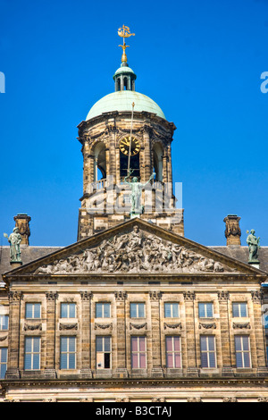 Details of The royal palace Dam Square Amsterdam Holland - Stock Photo